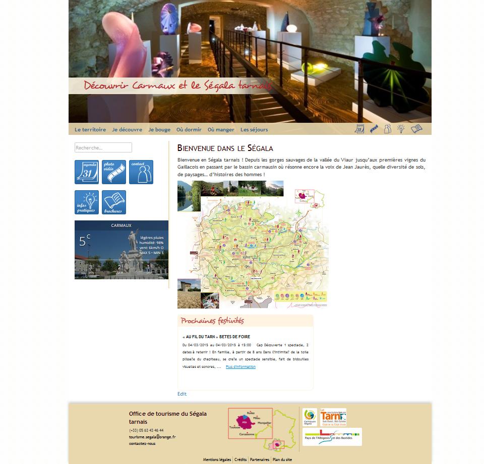 Visuel du site internet