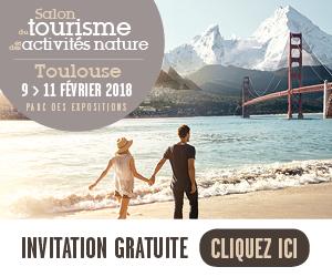 E-invitation Salon du tourisme de Toulouse du 9 au 11 février 2018