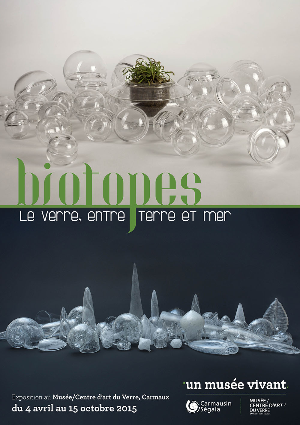Affiche de exposition Biotopes - Musée/centre d'art du verre