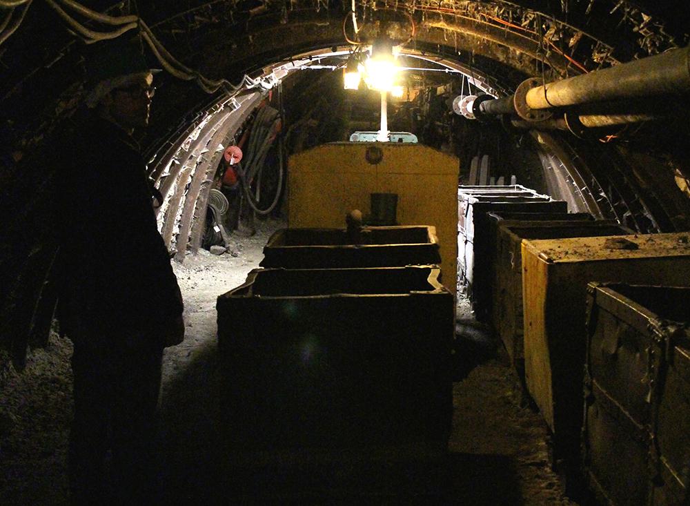 Visite d'une galerie du Musee-mine départemental - Cagnac les mines