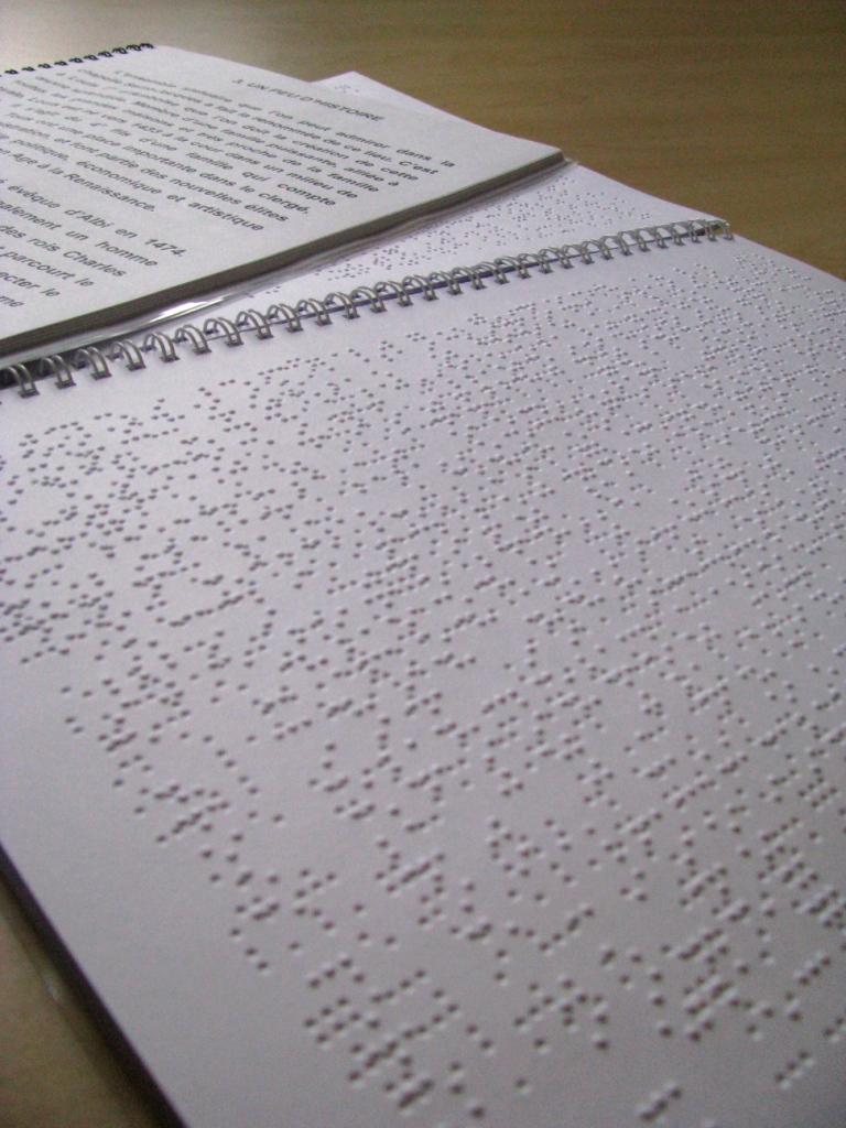 Livret de visite en braille
