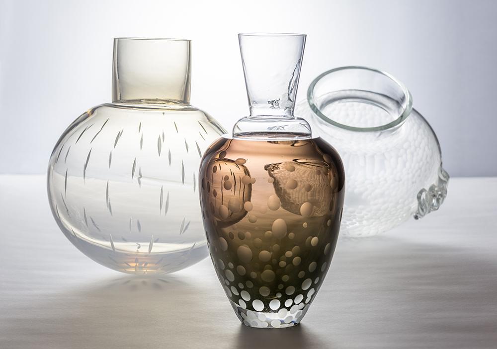 Violaine Laveaux, Vase vénitien, vase pluie et vas Lodève © MCAV Vincent Boutin