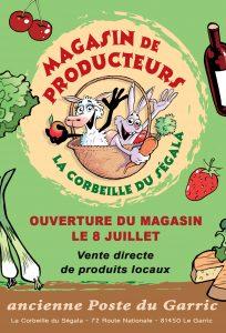 La Corbeille du Ségala - magasin de producteur au Garric